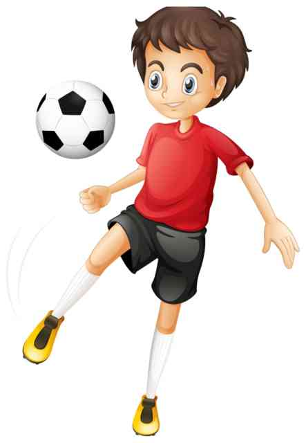 football cartoon good kids football player