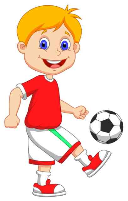 Football Cartoon | Happy Kids Football Player