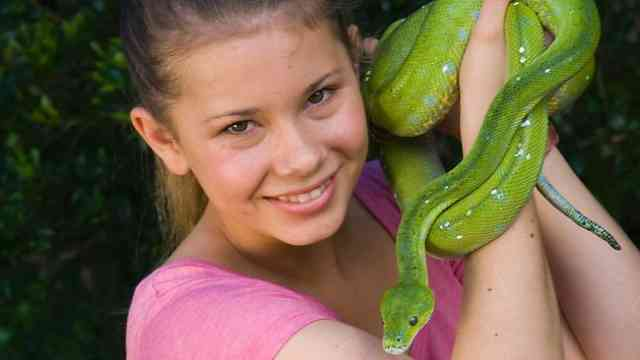 Bindi Irwin with Green Snake
