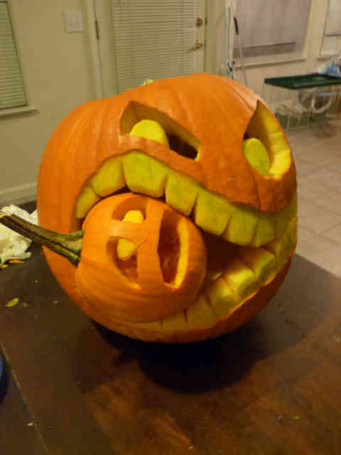 Cannibal Pumpkin Carving Ideas Photos