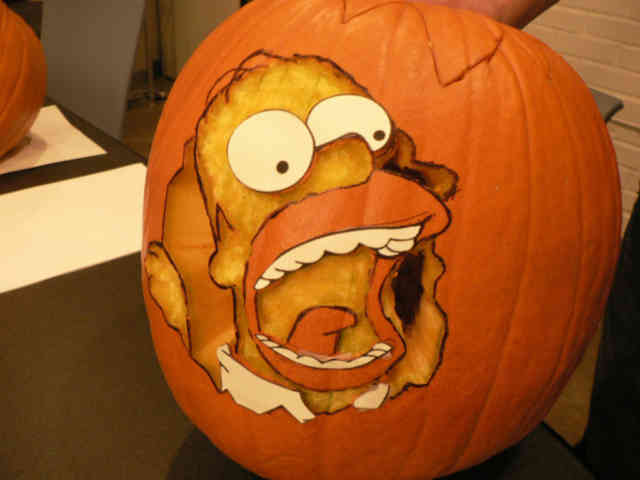 Homer Pumpkin Carving Ideas Photos