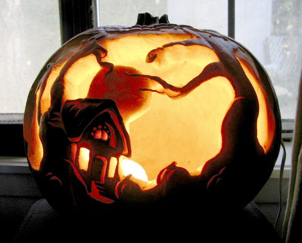 House Village Pumpkin Carving Ideas Photos