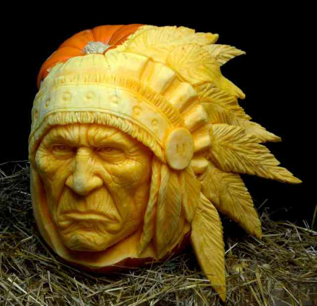 Indian Face Pumpkin Carving Ideas Photos