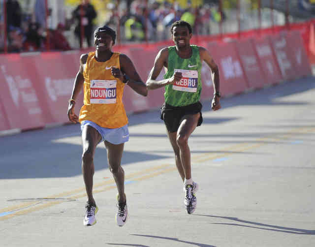 Latest time Chicago Marathon 2015