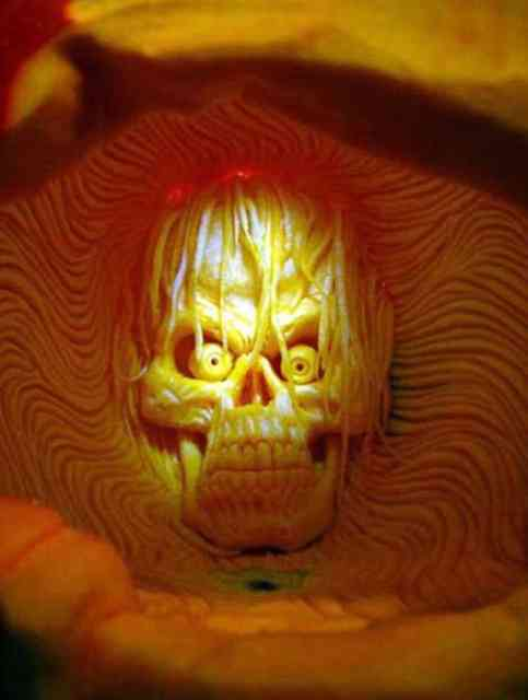 Skull Pumpkin Carving Ideas Photos