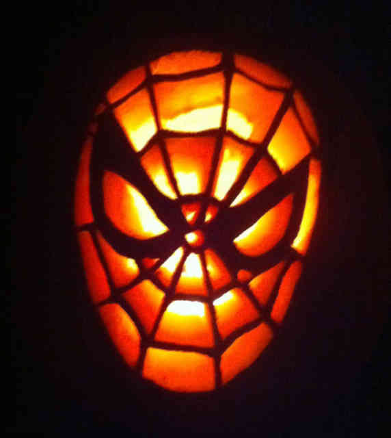 Spiderman Pumpkin Carving Ideas Photos