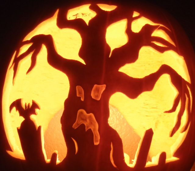 Wicked Tree Pumpkin Carving Ideas Photos