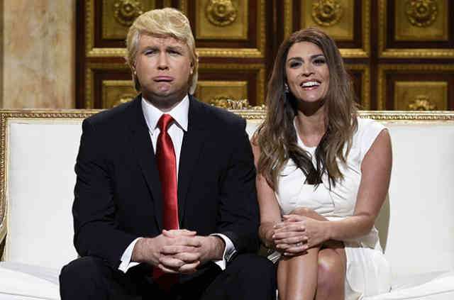 Comic Donald Trump at Saturday Night live PHOTOS November 2015