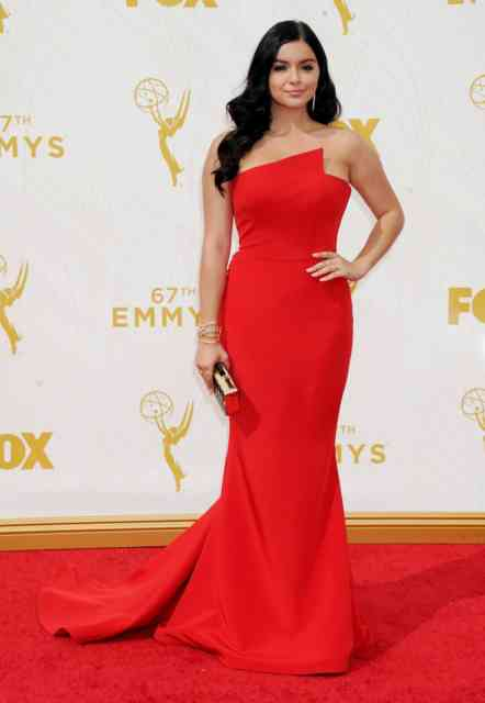 Cute Red Dress Ariel Winter 2015 American Actress-Singer Photos