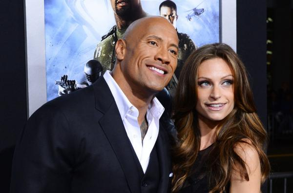 Dwayne Johnson and Lauren Hashian Baby Girl Couple Photos