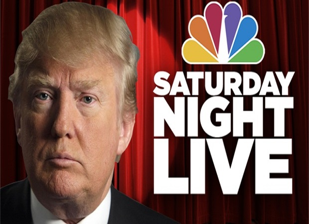 Logo SNL Donald Trump at Saturday Night live PHOTOS