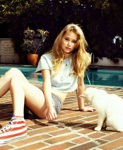 Young Jennifer Lawrence Most Paid Hollywood Actress 2015 Wallpaper
