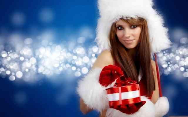 3D HD Hot Christmas Girls Images