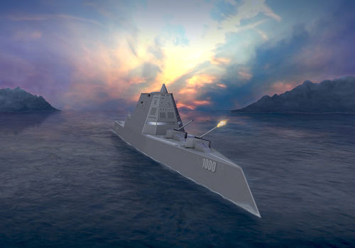 Amazing DDG 1000 Zumwalt -   USA Zumwalt RailGuns Weapons
