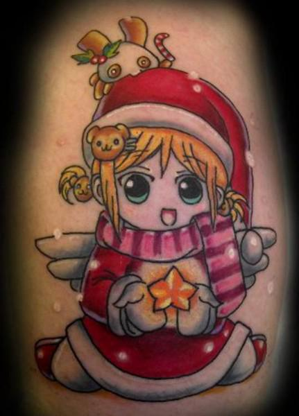 Baby Christmas Arm Tattoo Ideas