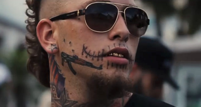 Face Tattoo Stitches Rapper Photos #2