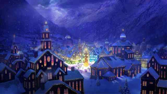 HD Christmas Village Wallpapers Desktop
