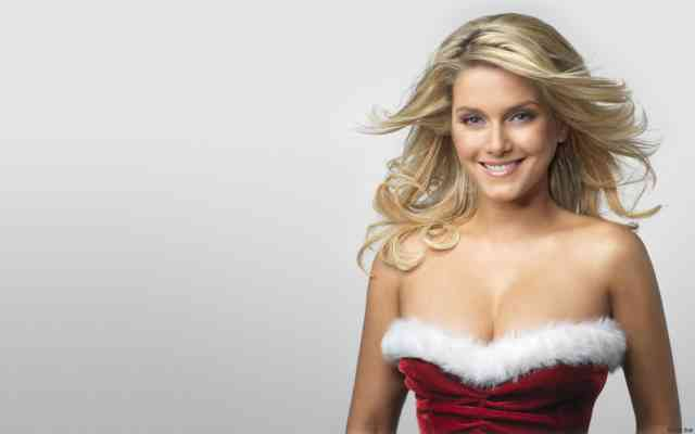 Hot Blond Christmas Women HD Wallpapers