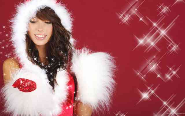 Hot Christmas Girl HD Wallpapers
