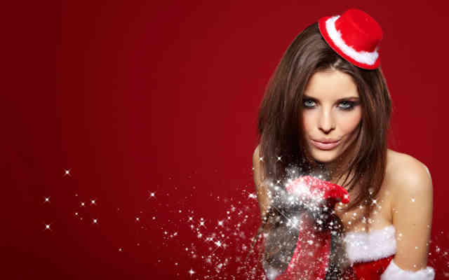 Hot Christmas Snow & Women HD Wallpapers