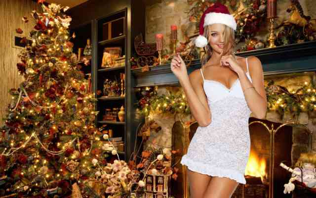Hot Christmas Women Home HD Wallpapers