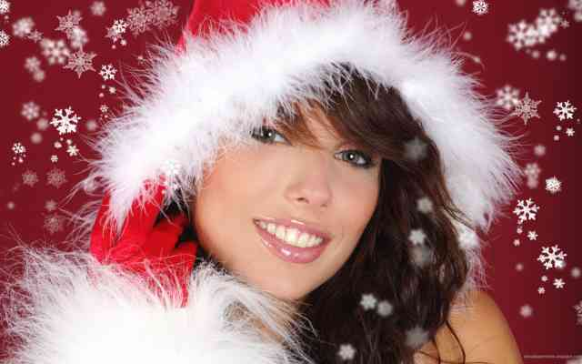 Iphone 6S Hot Christmas Girls Wallpapers