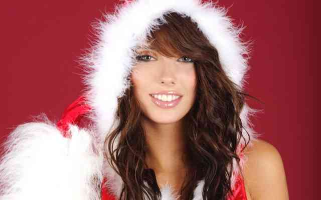 Iphone Hot Christmas Girls Wallpapers