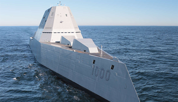 Ocean Test DDG 1000 Zumwalt –   USA Zumwalt RailGuns Weapons