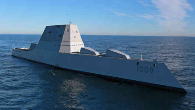 USA Navy DDG 1000 Zumwalt -   USA Zumwalt RailGuns Weapons