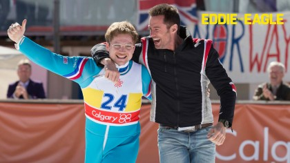 Eddie the Eagle wallpaper HD movie 2016 starring Hugh Jackman