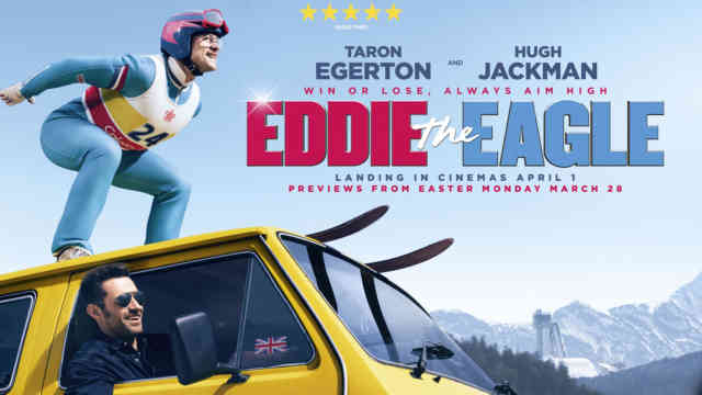 Eddie the Eagle wallpaper HD film poster 2016 Hugh Jackman