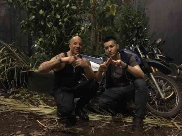 Photos with Vin Diesel, Kris Wu