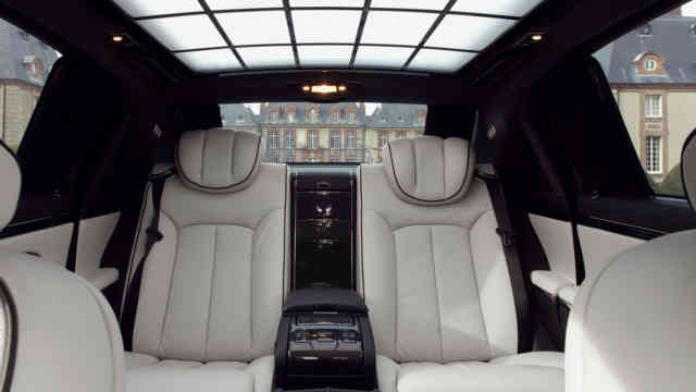 Maybach 57 and 62 white leather interior look