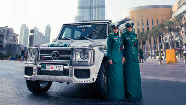 Mercedes-AMG G63 / G65 4MATIC in Dubai landscape view