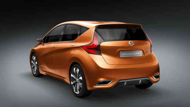 Nissan INVITATION Hatchback Concept rear view orange color
