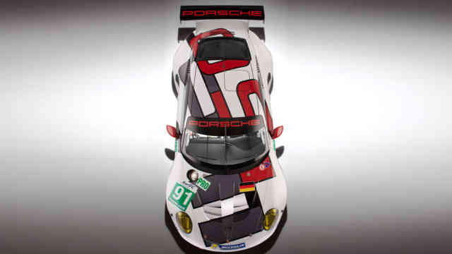 2013 Porsche 911 RSR Race Car wallpaper top view