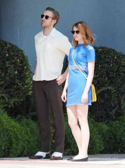 51827588 Actors Emma Stone and Ryan Gosling are seen filming scenes for the upcoming movie 'La La Land' in Los Angeles, California on August 19, 2015. FameFlynet, Inc - Beverly Hills, CA, USA - +1 (818) 307-4813