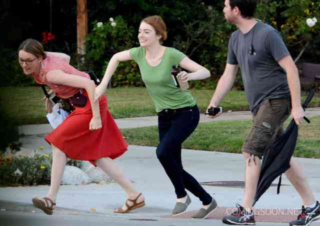 51826942 Actress Emma Stone is seen filming scenes for the upcoming movie 'La La Land' in Los Angeles, California on August 18, 2015. FameFlynet, Inc - Beverly Hills, CA, USA - +1 (818) 307-4813