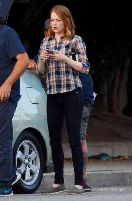 51826943 Actress Emma Stone is seen filming scenes for the upcoming movie 'La La Land' in Los Angeles, California on August 18, 2015. FameFlynet, Inc - Beverly Hills, CA, USA - +1 (818) 307-4813