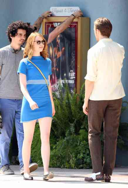 51827617 Actors Emma Stone and Ryan Gosling are seen filming scenes for the upcoming movie 'La La Land' in Los Angeles, California on August 19, 2015. FameFlynet, Inc - Beverly Hills, CA, USA - +1 (818) 307-4813