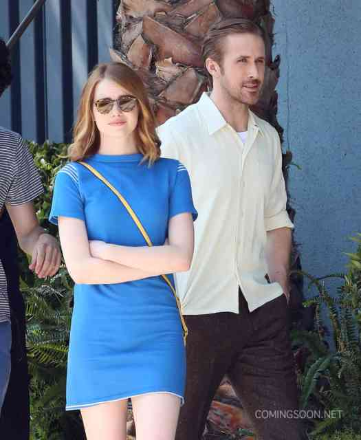 51827639 Actors Emma Stone and Ryan Gosling are seen filming scenes for the upcoming movie 'La La Land' in Los Angeles, California on August 19, 2015. FameFlynet, Inc - Beverly Hills, CA, USA - +1 (818) 307-4813