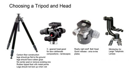 Different Types of Tripod Heads Used in Professional Photography