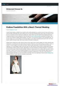 Endless Possibilities with a Beach Themed Wedding