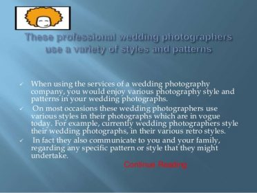 Get The Benefits From Photography Services in India