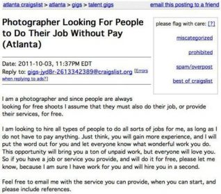 Let Paid Photographer Do Their Job