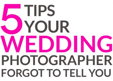 Photography Tips For Your Wedding