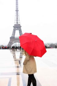 Valentine's Day, Paris and Rain