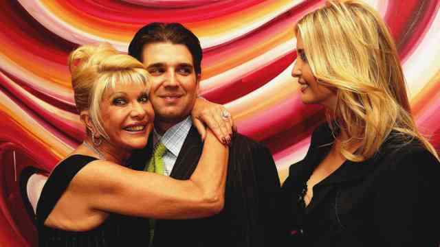 Ivana, Donald Jr. and Ivanka Trump